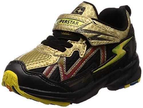 [スーパースター] 幅広 ワイド 3E 運動靴 通学履き バネ バネのチカラ 軽量 ゆったり SS K814 ゴールド 17 cm,子供,靴,おすすめ