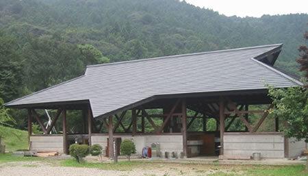 つくばねオートキャンプ場の炊事棟,茨城,雨,バーベキュー
