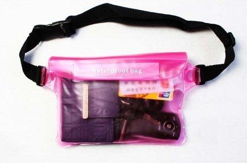 完全防水 ウエストバッグ ポーチ アウトドア 海水浴 プール の 必需品 I02-03 (ピンク),海水浴,持ち物,