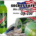 隠し金庫 ペットボトル型 SECRET SAFE シークレットセーフ OA-230 Mtn Dew,海水浴,持ち物,
