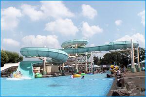 砂沼サンビーチのウォータースライダー,スライダー,プール,関東