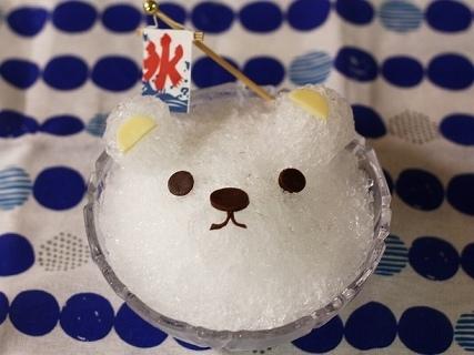 シロクマのかき氷,夏,献立,