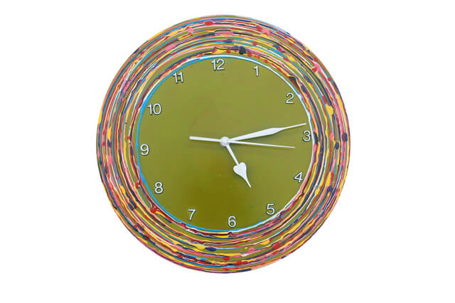 緑の時計,ハンドメイド,時計,