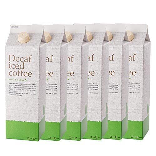 デカフェアイスコーヒー ハウスブレンド 1,000ml×6本,出産祝い,食べ物,