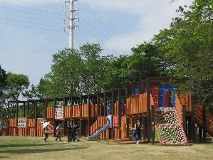 大泉緑地の児童遊戯場(冒険ランド),大阪府,アスレチック,公園
