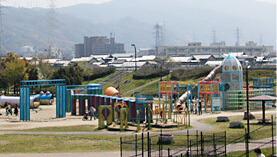 深北緑地の大型遊具,大阪府,アスレチック,公園