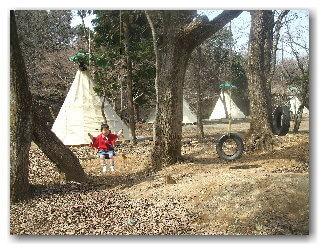 アウトドア・ベース犬山キャンプ場のティピー ,手ぶら,バーベキュー,愛知県