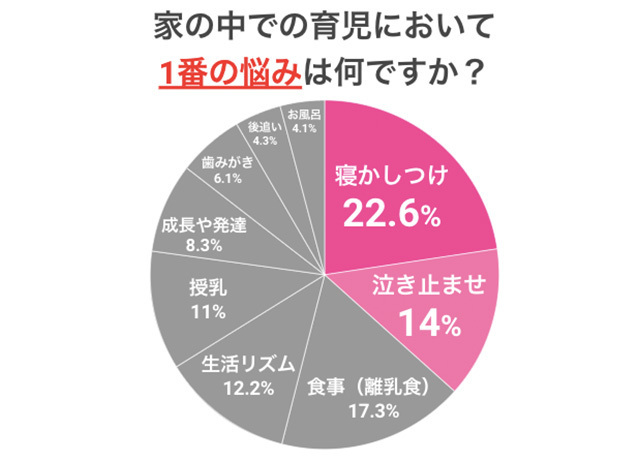 育児のお悩み円グラフ,