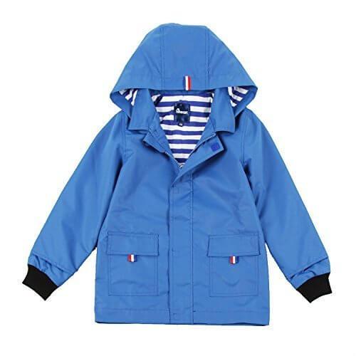 (ハイハート)Hiheart キッズパーカー 男の子 ウインドブレーカー 子供服 アウター フード付き トレンチコート 子供 ジャケット 上着 ジャンパー ブルー 110cm,キッズ,ウィンドブレーカー,
