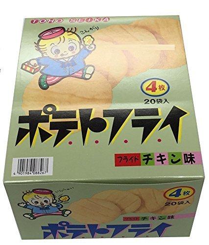 TOHO 東豊製菓 ポテトフライ フライドチキン味 4枚入(11g) 1ボール(20個入),ハロウィン,お菓子,Amazon
