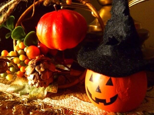 ハロウィンのかぼちゃランタン ,ハロウィン,マント,