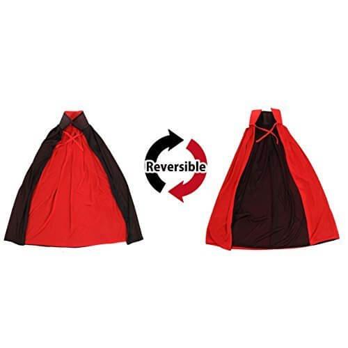 大人から子供まで ドラキュラ 吸血鬼 子供マント キッズマント kids Halloween ハロウィン コスチューム仮装 衣装 赤黒リバーシブルマント(90cm 子供用),ハロウィン,マント,