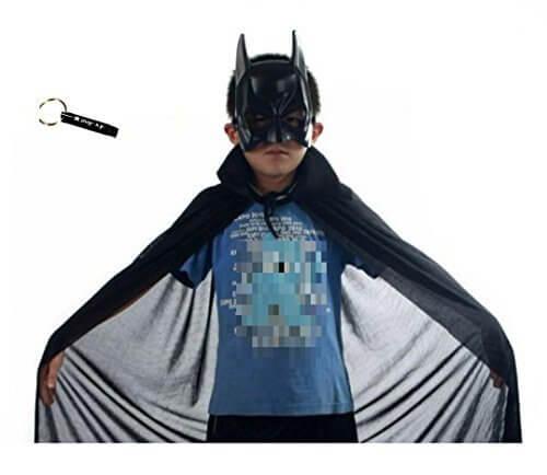 (pkpohs) なりきり バットマン キッズ コスチューム ( マスク 、 マント セット ) 子供用 コスプレ 変身 仮装 ハロウィン,ハロウィン,マント,