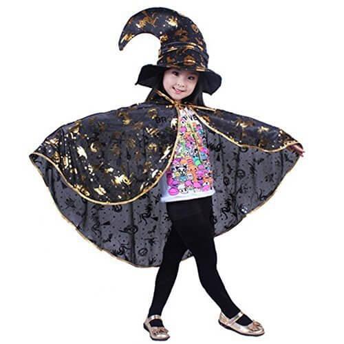 スピナス ハロウィン 仮装 キッズ ちょいコス派におススメ 魔女 帽子 マント 2点セット カボチャ柄 ハロウィン コスチューム,ハロウィン,マント,