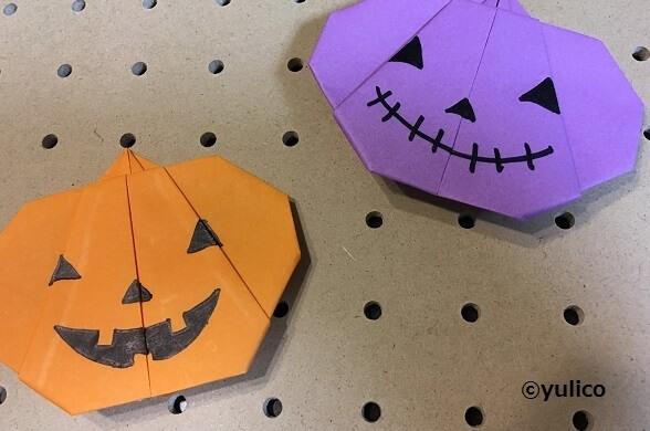 ジャックオーランタン-1,ハロウィン,折り紙,