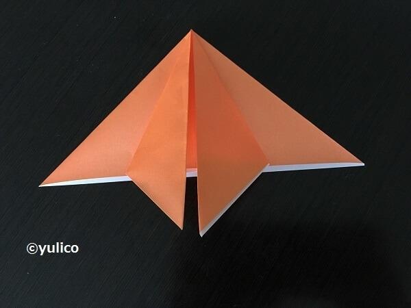 かぼちゃ作り方2,ハロウィン,折り紙,
