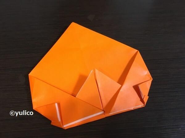 かぼちゃ作り方3,ハロウィン,折り紙,