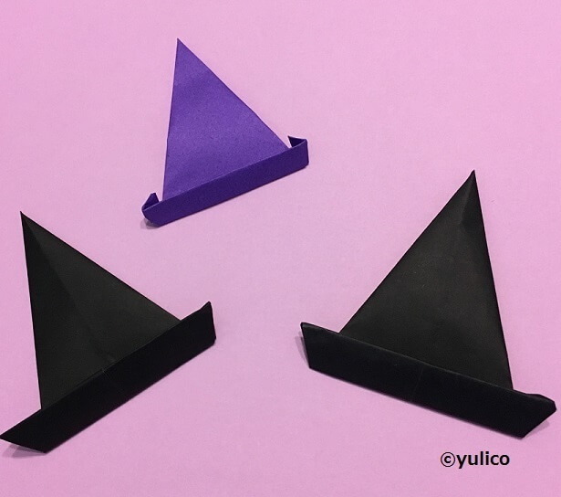 魔女の帽子,ハロウィン,折り紙,