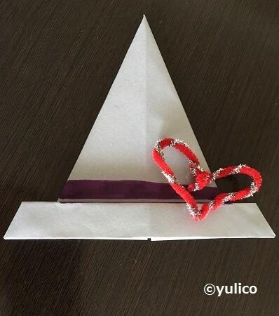 帽子アレンジハート,ハロウィン,折り紙,