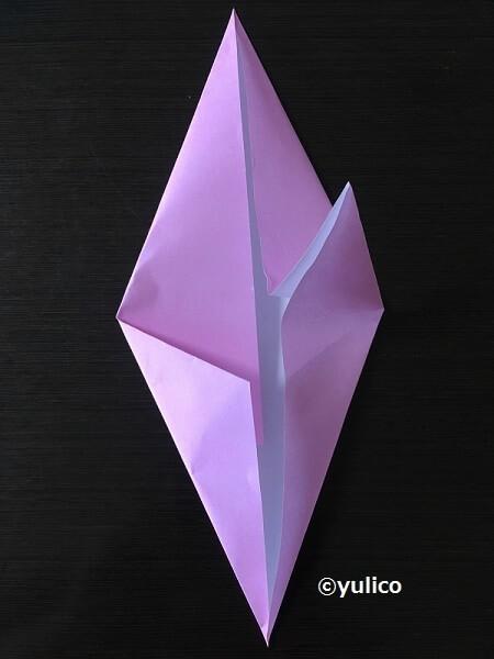 おばけ作り方1,ハロウィン,折り紙,