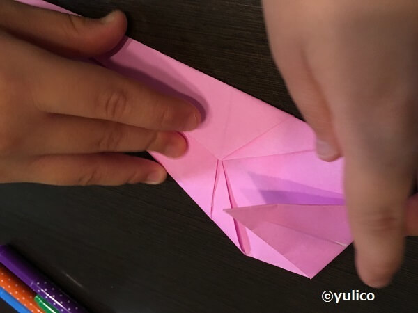 おばけ作り方2,ハロウィン,折り紙,