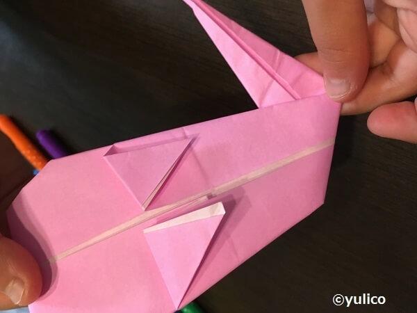 おばけ作り方3,ハロウィン,折り紙,