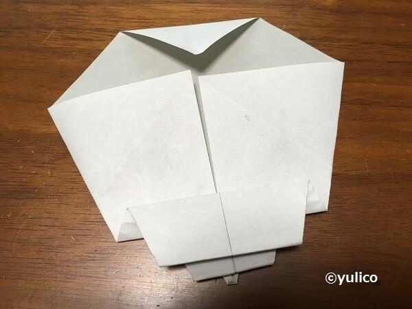 ガイコツ作り方,ハロウィン,折り紙,
