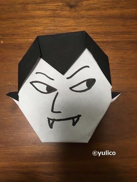 ドラキュラ-1,ハロウィン,折り紙,