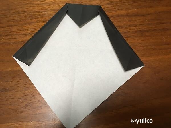 ドラキュラ作り方1,ハロウィン,折り紙,