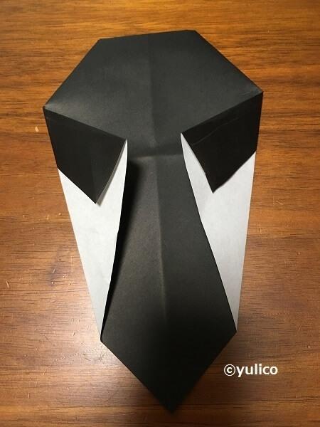 ドラキュラ作り方2,ハロウィン,折り紙,