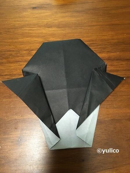 ドラキュラ作り方3,ハロウィン,折り紙,