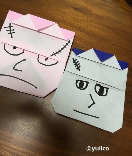 フランケンシュタイン,ハロウィン,折り紙,
