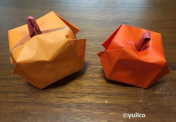 立体かぼちゃ,ハロウィン,折り紙,