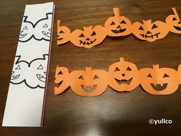 かぼちゃ切り絵の作り方,ハロウィン,折り紙,