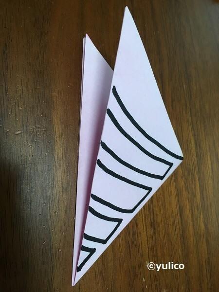 クモの巣の作り方1,ハロウィン,折り紙,