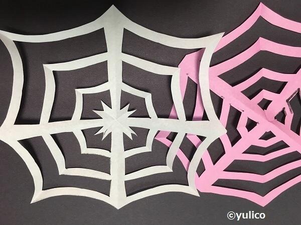 クモの巣アレンジ,ハロウィン,折り紙,