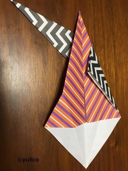 リース作り方4,ハロウィン,折り紙,