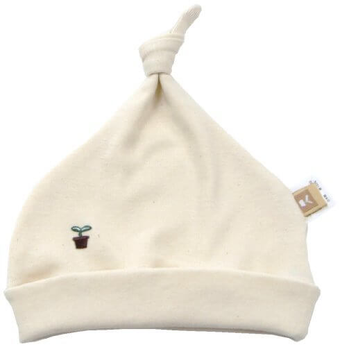 オーガニックコットン フライス ボウシ キナリ MIO101 日本製,赤ちゃんの帽子,