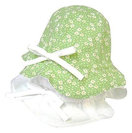 ひもがはずせるリバーシブルピケハットUV ,赤ちゃんの帽子,