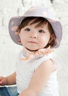 【Kan Sei+】丸洗い 赤ちゃん用の帽子では珍しいつば付き!男の子 女の子 100%コットン 頭上だけでなく日差しの眩しさからも守ってくれる 紫外線 uvカット (パープル),赤ちゃんの帽子,