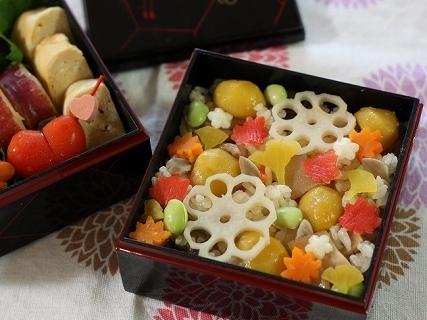 秋の炊き込み弁当,秋,お弁当,