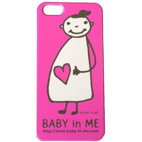 マタニティマークBABY in ME(R)ベイビーインミーiPhone5Sケース ピンク,マタニティマーク,配布,
