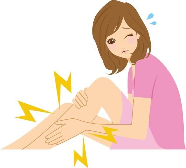 足の痛みを感じる女性,27週,胎児,