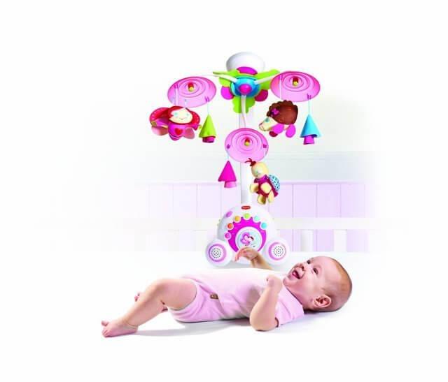 TINY LOVE プリンセスミュージックスモービル,ベビーベッド,おもちゃ,メリー