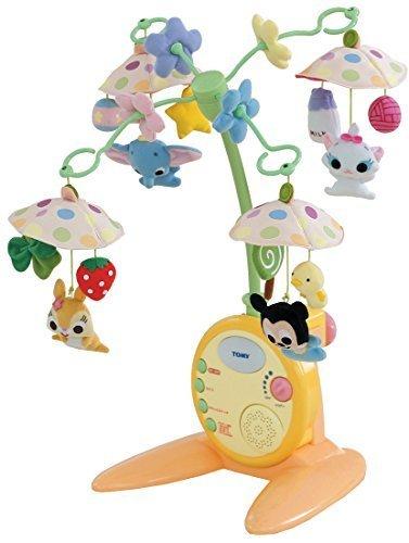 ディズニーキャラクターズ やわらかガラガラメリーデラックス,ベビーベッド,おもちゃ,メリー