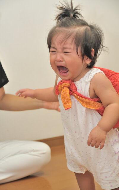 元気に泣く子は縁起がいい!,一升餅,初誕生日,1歳
