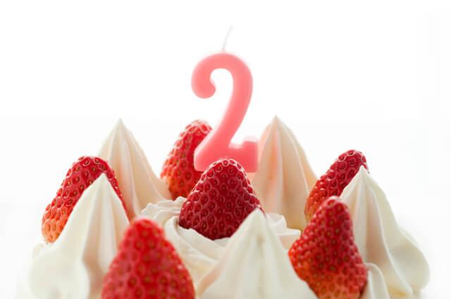 2歳の誕生日,2歳,誕生日,女の子