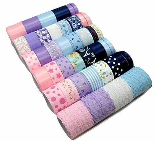 楽MoMo リボン 3色ミックス いろいろ 詰合せ 髪 手芸 セット 手芸 DIY 包装,ヘアクリップ,作り方,