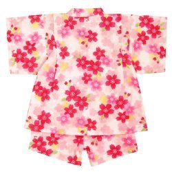 ミキハウス(mikihouse) 桜柄甚平スーツ 赤ちゃんやベビー 12-7502-845 白 120cm,女の子,甚平,人気