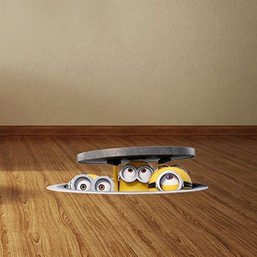 【COROBOX】ウォールステッカー ミニオンズ マンホールからひょっこり 立体デザイン シール 壁紙 インテリア雑貨 賃貸OK,ミニオン,DVD,